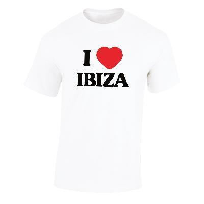 """Kommerz mit Herz T-Shirt """"Ibiza"""" Shirt Weiss"""